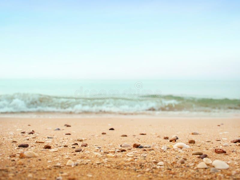 Piękny piasek plaży tło obraz stock
