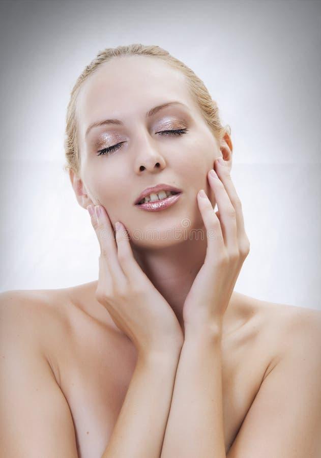 Piękny plciowy kobiety twarzy close-up obrazy stock