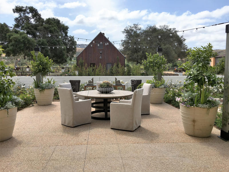 Piękny Plenerowy patio zdjęcie royalty free