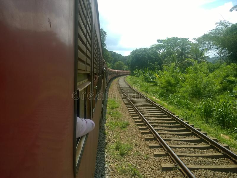 Piękny pociąg w sri lance obraz stock