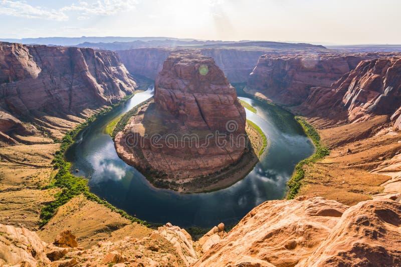 Piękny podkowa chył na słonecznym dniu, strona, Arizona, usa zdjęcie royalty free