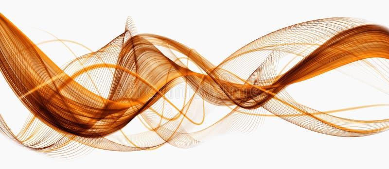 Piękny Pomarańczowy abstrakcjonistyczny nowożytny falowanie biznesu tło royalty ilustracja