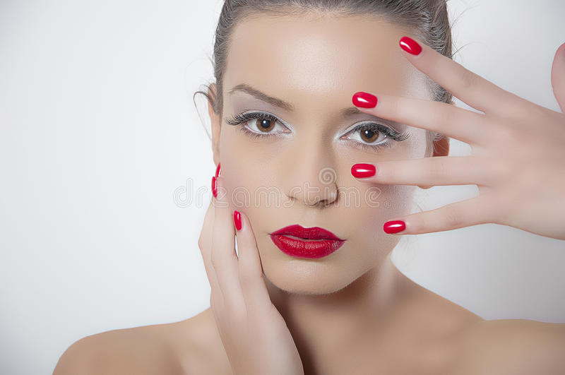 Piękny portret mody kobieta obraz stock
