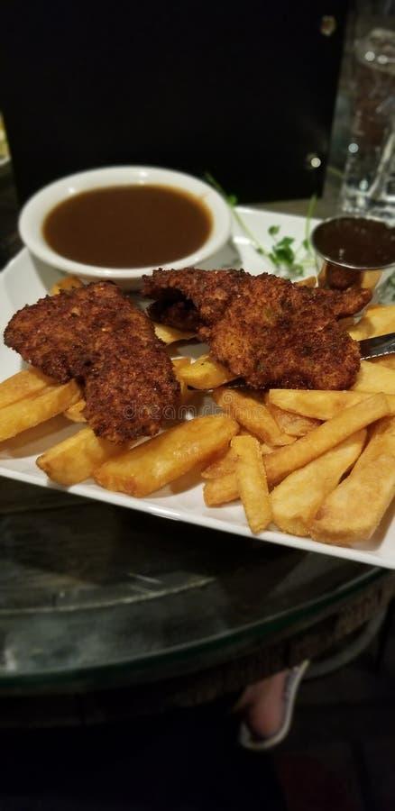 Piękny posiłek przy za galanteryjnej restauracji obrazy stock