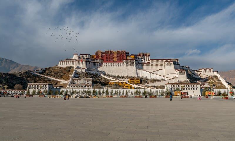 Piękny Potala pałac zdjęcie royalty free