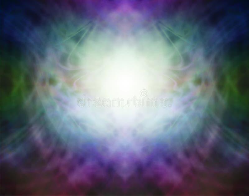 Piękny Pranic formaci Duchowy Energetyczny tło royalty ilustracja