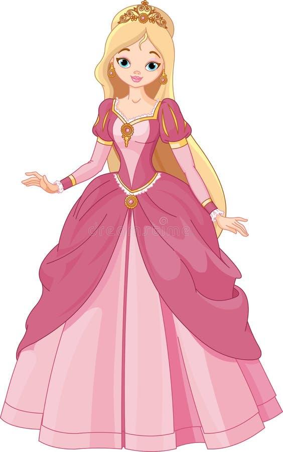 piękny princess royalty ilustracja