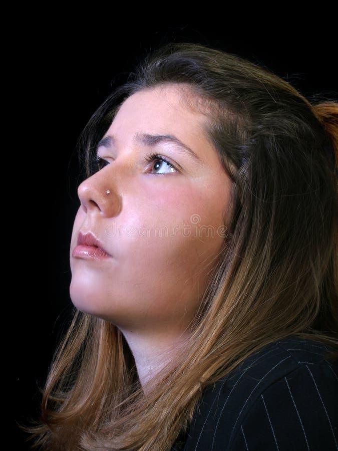 piękny profil nastolatków. zdjęcie stock