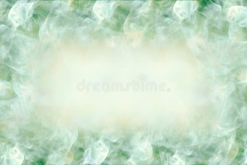 Piękny projekta tło z przestrzenią w centrum dla teksta, abstrakta, zieleni i bielu kolorów, ilustracji