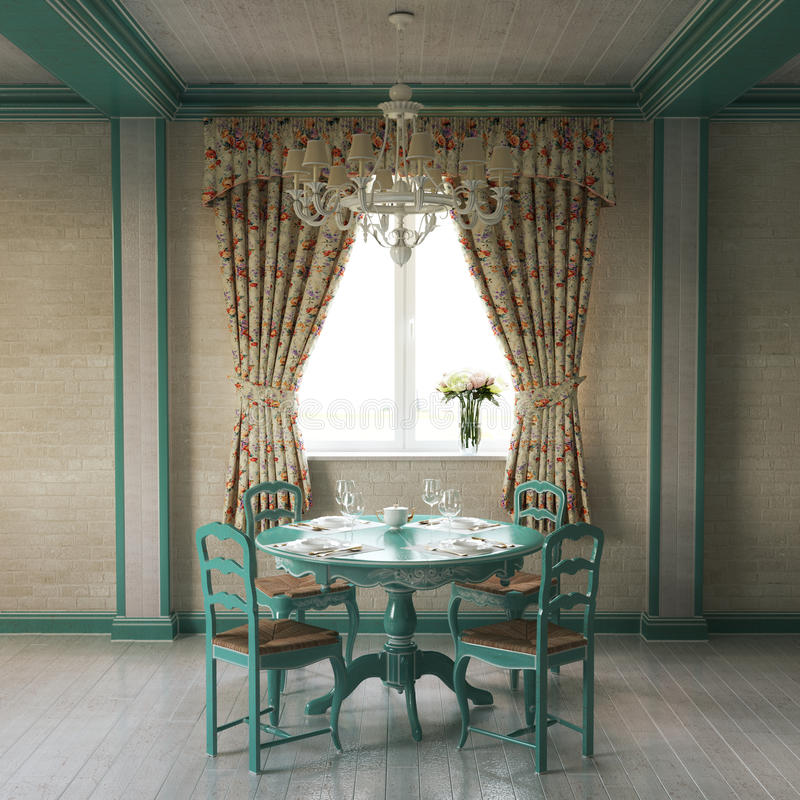 Piękny Provence domu wnętrze fotografia stock