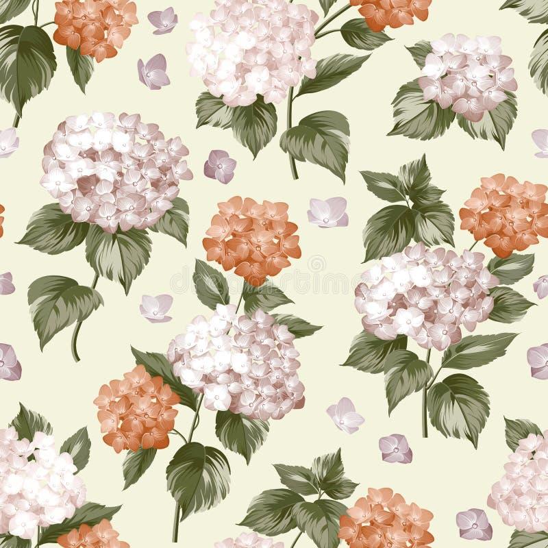 Piękny purpurowy kwiat hortensja royalty ilustracja
