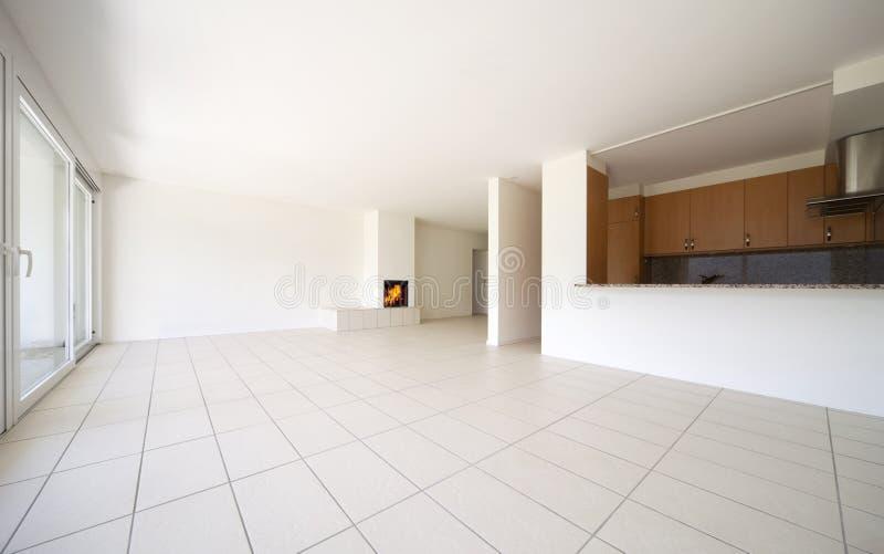 piękny pusty mieszkanie zdjęcie stock