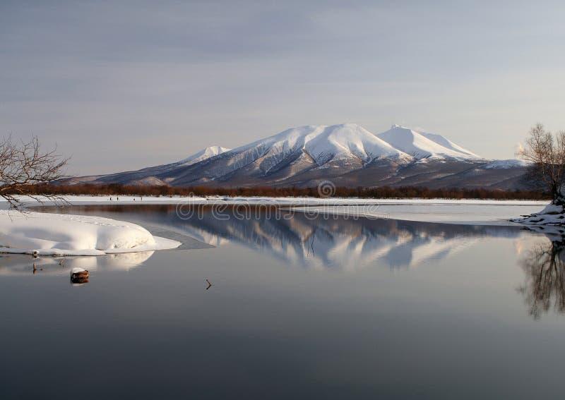 Piękny ranek na jeziorze fotografia stock