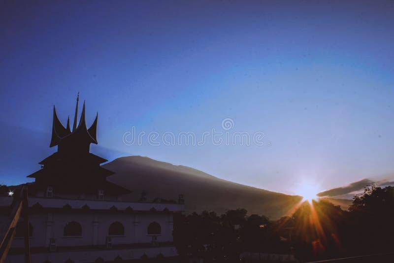 piękny ranek Ranah Minang obraz stock