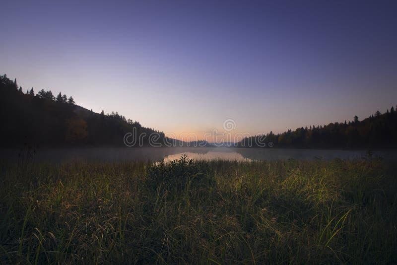 Piękny ranek w Mont-Tremblant obraz stock