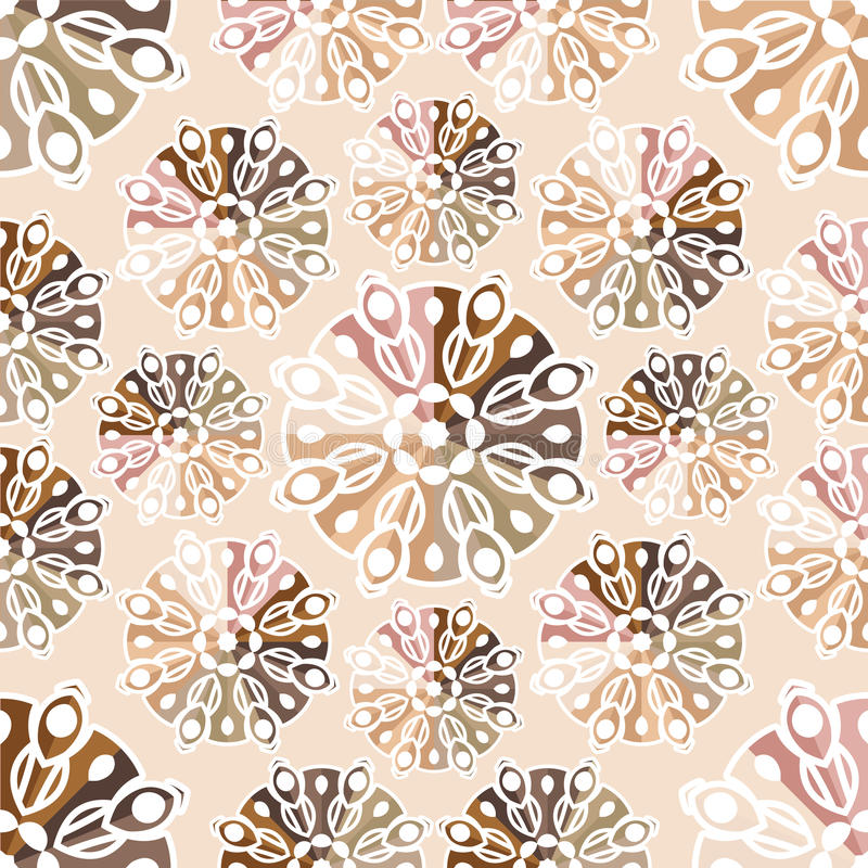 Piękny retro bezszwowy wzór, rocznik tekstura Wolumetryczny wzór ethnic royalty ilustracja