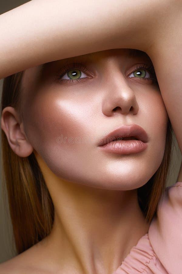 piękny robi portretowi w górę kobiety obraz royalty free