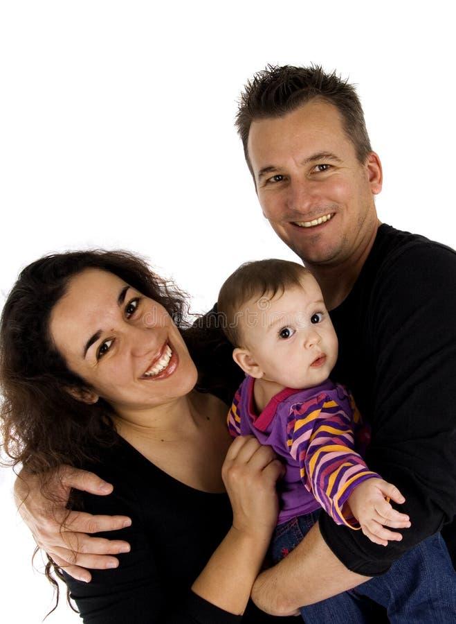 piękny rodzinny portret zdjęcia stock