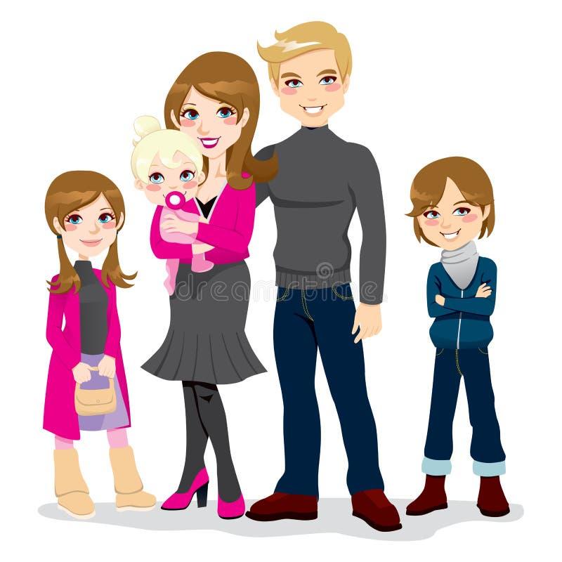 piękny rodzinny szczęśliwy royalty ilustracja