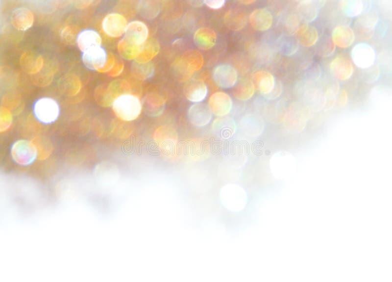 Piękny rozmyty złoty tło, świąteczny bokeh światło obrazy stock