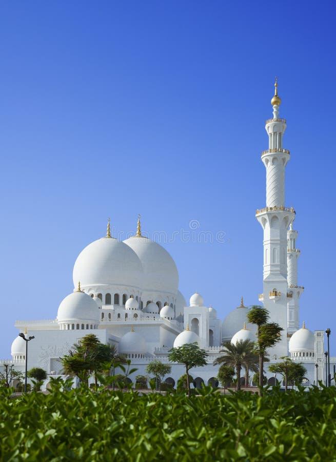 Piękny scenerii Sheikh Zayed Meczet w Abu Dhabi UAE obrazy royalty free