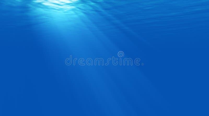 Piękny sceny światło podwodny ilustracji