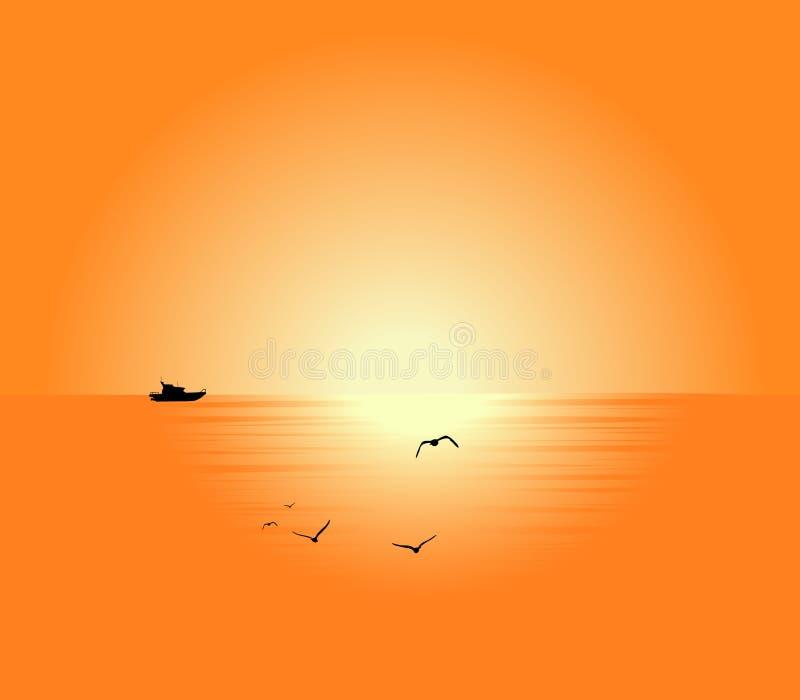 piękny seascape ilustracji