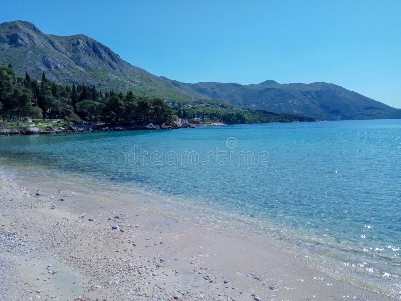 Piękny seascape Adriatycki morze obraz royalty free