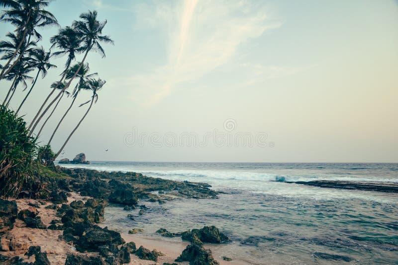 Piękny seascape w Sri Lanka fotografia royalty free