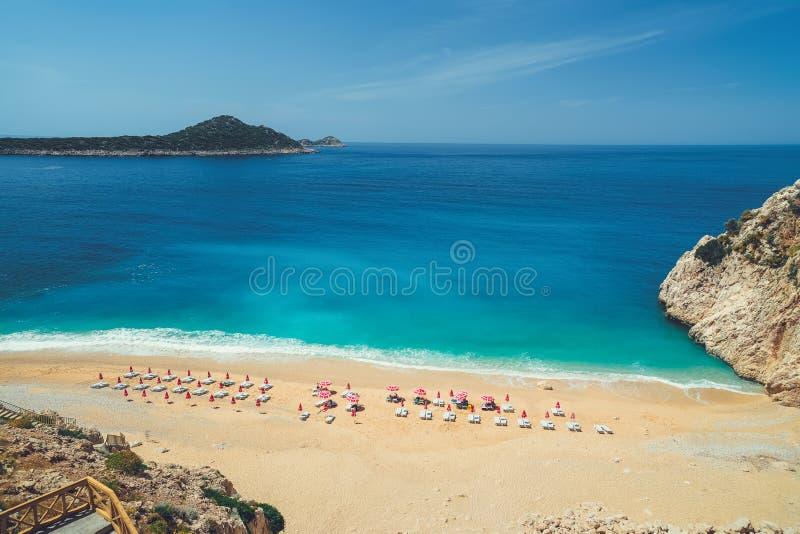 Piękny seascape z wybrzeża antyczny miasto Knidos obraz royalty free