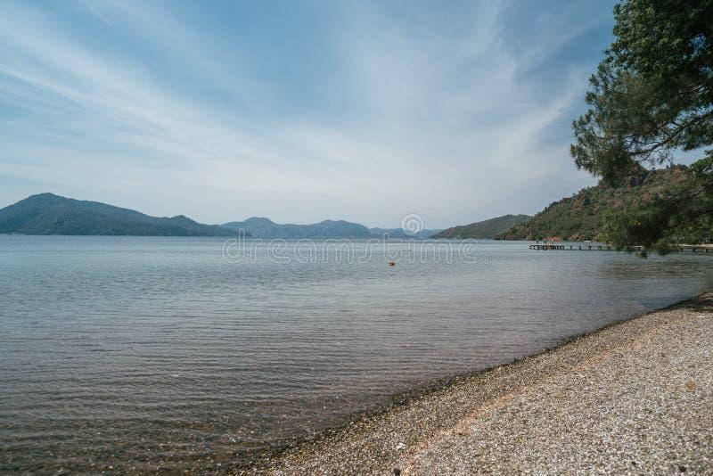 Piękny seascape z wybrzeża Turcja zdjęcia stock
