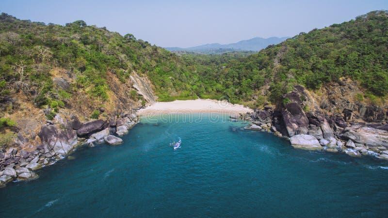 Piękny sekret plaży motyl Goa turystyczny stan w India obrazy stock