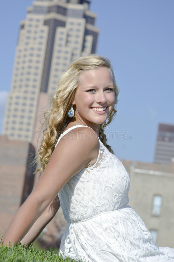 Piękny senior w Des Moines zdjęcia royalty free