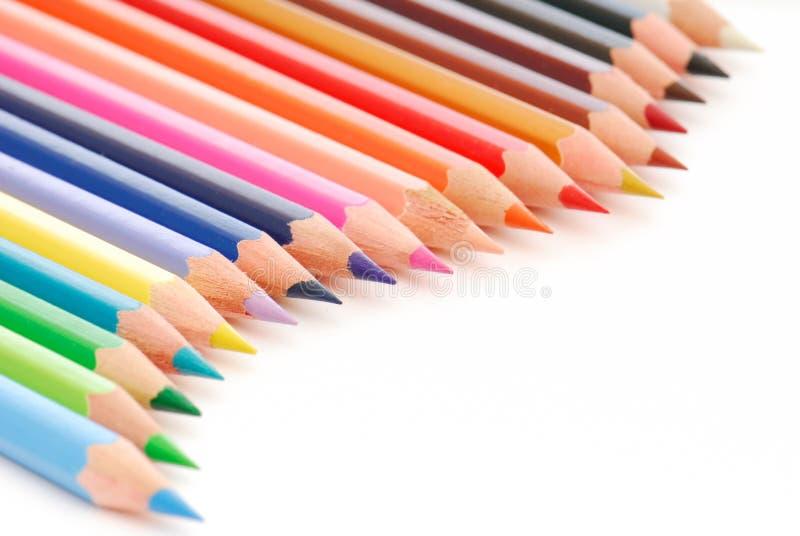 Piękny Skład Barwioni Ołówki Bezpłatne Zdjęcia Stock