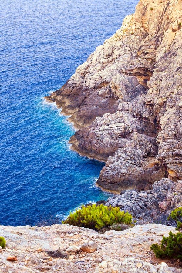 Piękny skalisty wybrzeże w Mallorca zdjęcie stock