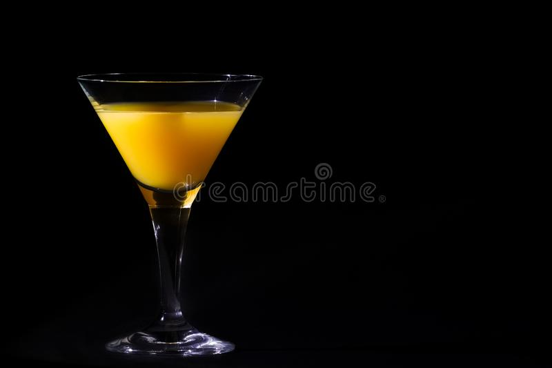 Piękny skrewdriver koktajlu highball napój obraz stock