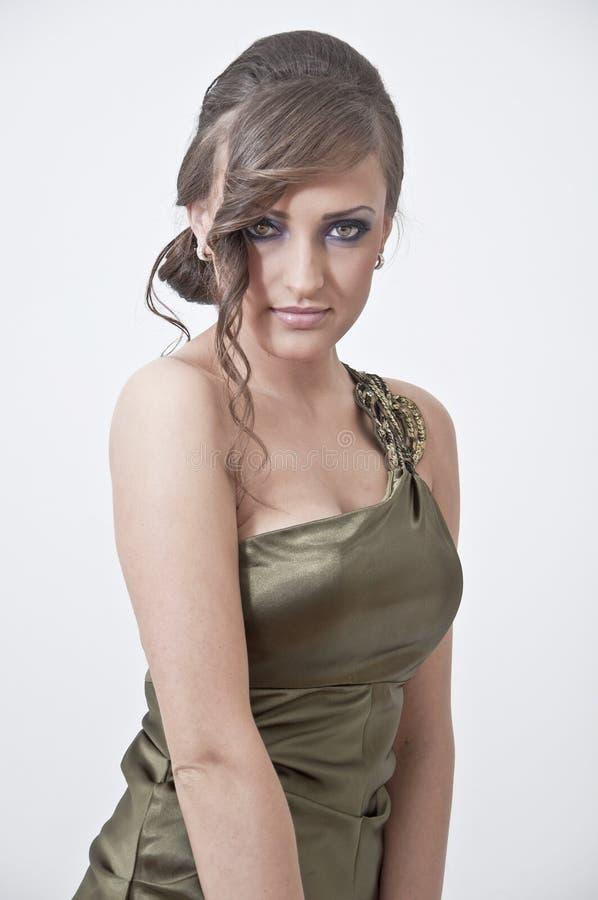 piękny smokingowy dziewczyny portreta bal obrazy stock