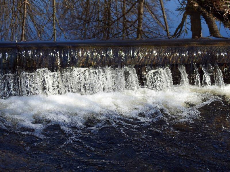 Piękny spada wodny słoneczny dzień, Lithuania obrazy royalty free