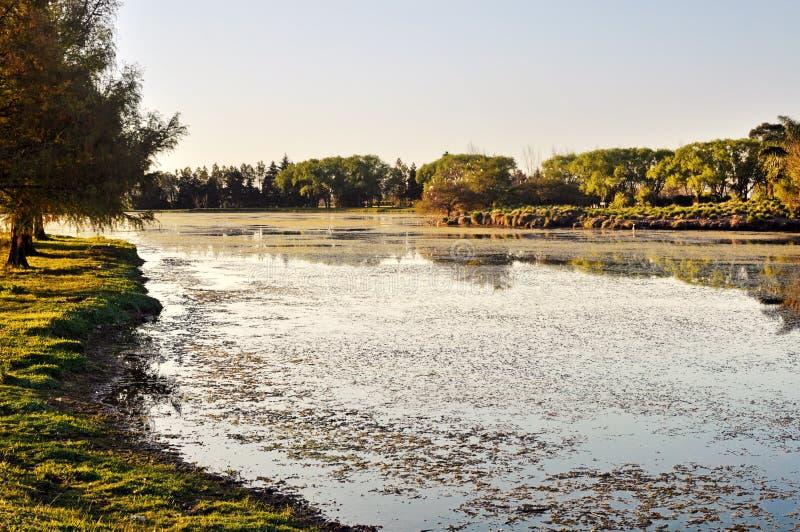Piękny spokojny jezioro obraz stock