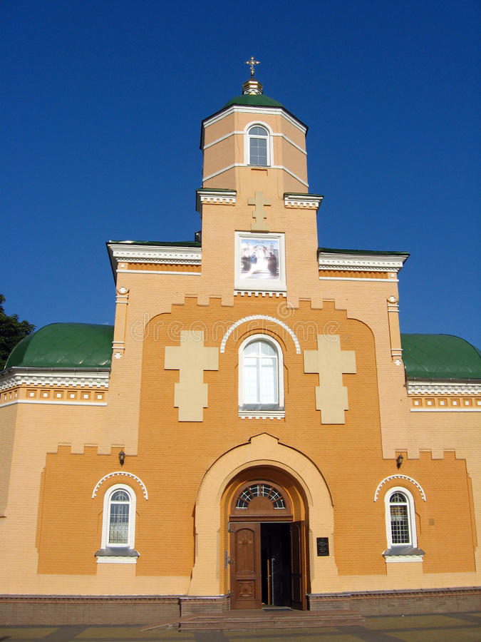 Piękny Sretenska kościół w Priluky zdjęcia stock