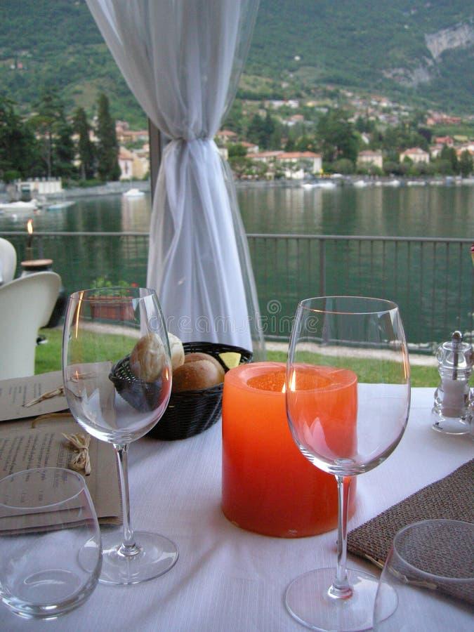 piękny stół Włochy zdjęcie stock