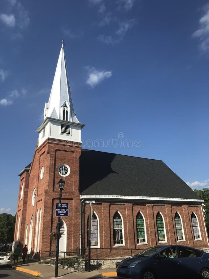Piękny stary kościół zdjęcie royalty free