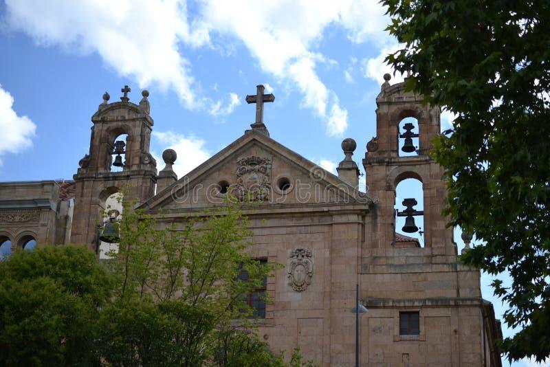 Piękny stary miasto Salamanca, Hiszpania, katedra, placu Mayor i Universidad uniwersytet, Hiszpańska architektura obraz royalty free