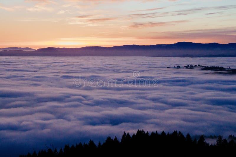 Piękny strzał chmury z góry zdjęcie royalty free