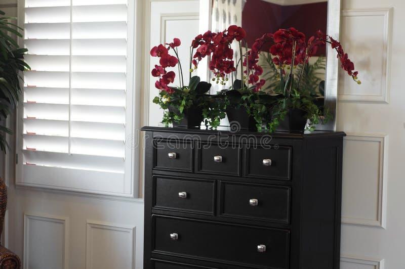 piękny sypialni projekta wnętrze zdjęcie royalty free