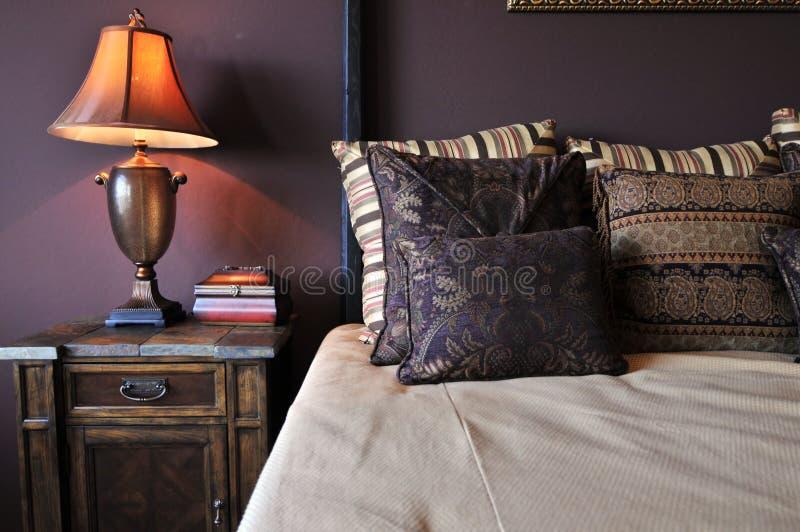 piękny sypialni projekta wnętrze obrazy royalty free