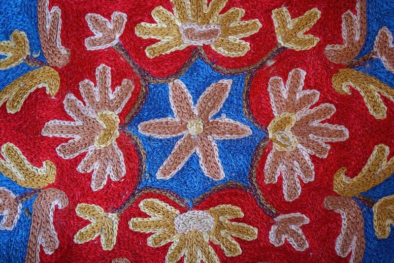 Piękny szczegół dywan w rynku obraz royalty free