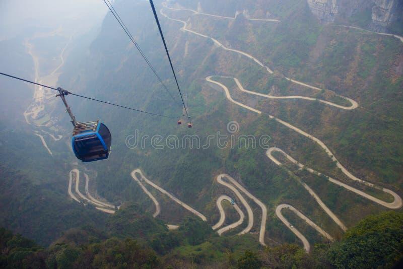 Piękny szczyt góra obrazy royalty free
