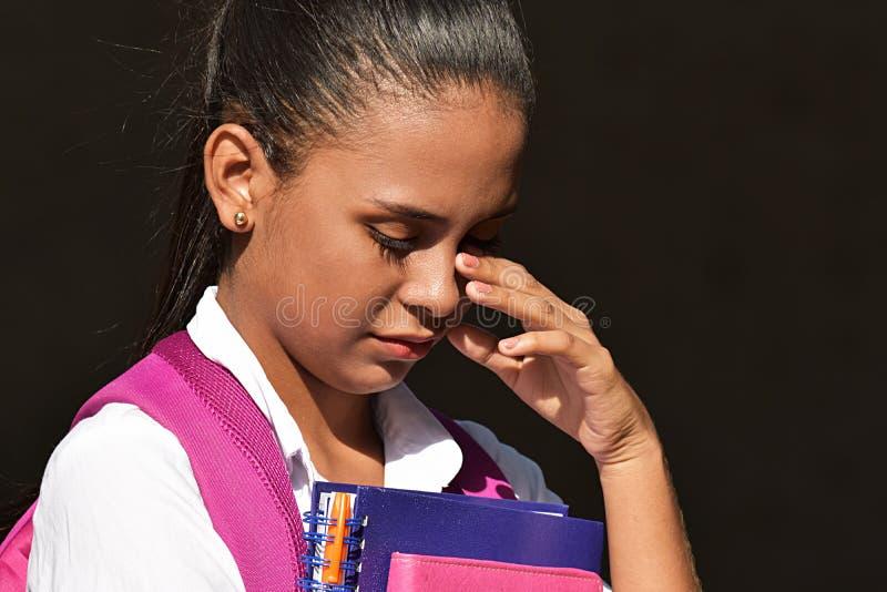 Piękny Szkolny dziewczyna płacz zdjęcia stock