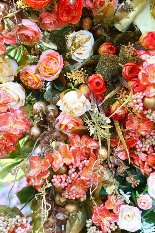 Piękny Sztuczny bukiet kwitnie tło zdjęcia royalty free